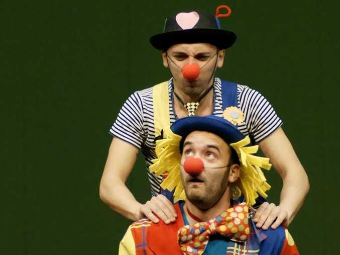 No creepy clowns here