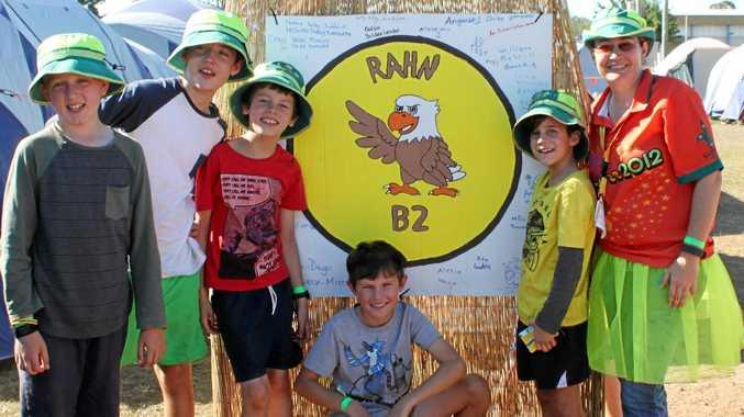 Thomas Banducci, Sean McKenzie, Aidan Fitzpatrick, William Russell, Daniel Watson and Joanne Hamilton of Banksia Scout Group