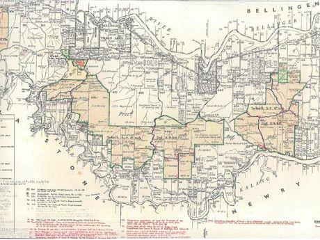 Tarkeeth lands dedication map drawn up in 1984.