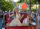 FAMOUS FACES: Gympie's own Caitlyn Shadbolt got into the spirit last year on the Gympie Times float. This year, the musical entertainment will be provided by Emma Beau, Linc Phelps and 80s pop band Mental As Anything.