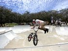 JUMP INTO IT: Pro BMX rider Josh Fountain will visit the skate park this weekend to talk to the kids and show them some of his stunts.