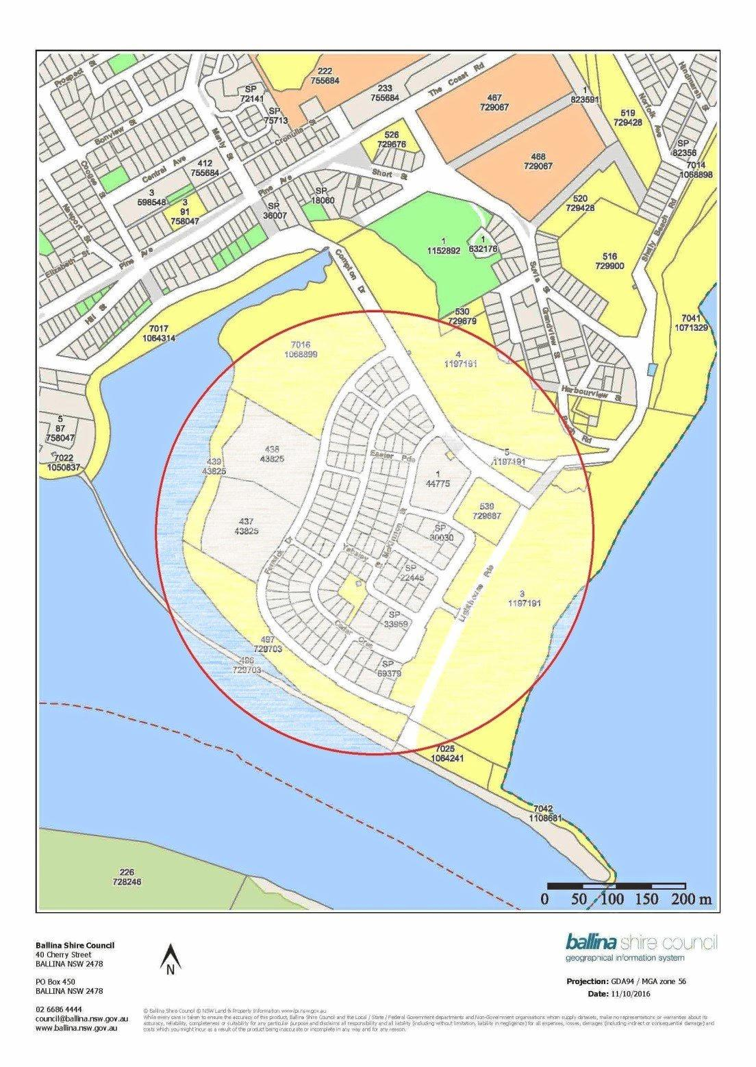 WATER CUT OFF: Area to be effected by cut to water supply.