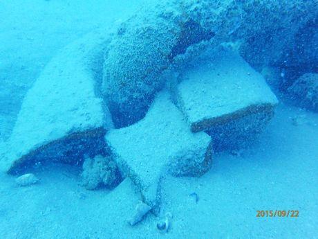 The 12 tonne Kotobuki Industries anchor laying at the bottom of the ocean at Hay Point.