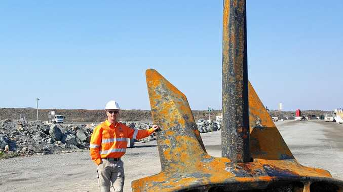It's planned that the massive anchor will be located on the roundabout at the intersection of Ron Searle Dr, Mulherin Dr and East Point Dr near Mackay Marina.