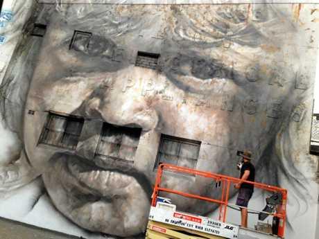 Guido van Helton's mural in Redfern.