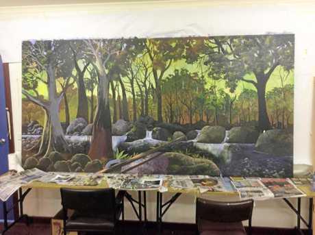 The mural painted in Melbourne led by Richard van Haeren.
