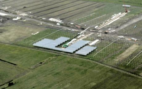 The Valdora solar farm will cover 24ha of a 49ha disued cane farm on Yandina-Coolum Road. Picture: Graeme Gillies Blue Tongue Helicopters