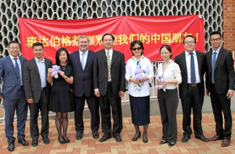 SCOPING OUT THE REGION: Mayor Jack Dempsey with a delegation of Chinese bankers visiting Bundaberg.