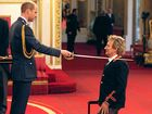 Veteran singer Sir Rod Stewart, is made a Knights Batchelor by Prince William, the Duke of Cambridge, at Buckingham Palace.