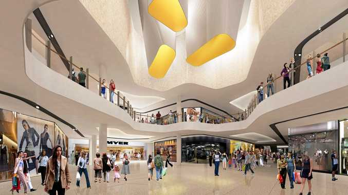 VISION: An artist impression inside the new look $400m Sunshine Plaza, currently struck by union work stoppages.