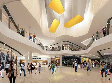An artists impression inside the new look Sunshine Plaza