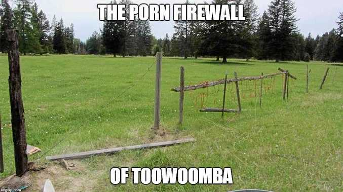 HAVING A LAUGH: Some of the memes posted regarding the anti-porn rally in Toowoomba.