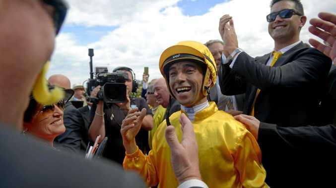 Brazilian jockey Joao Moreira at Flemington Racecourse last year.