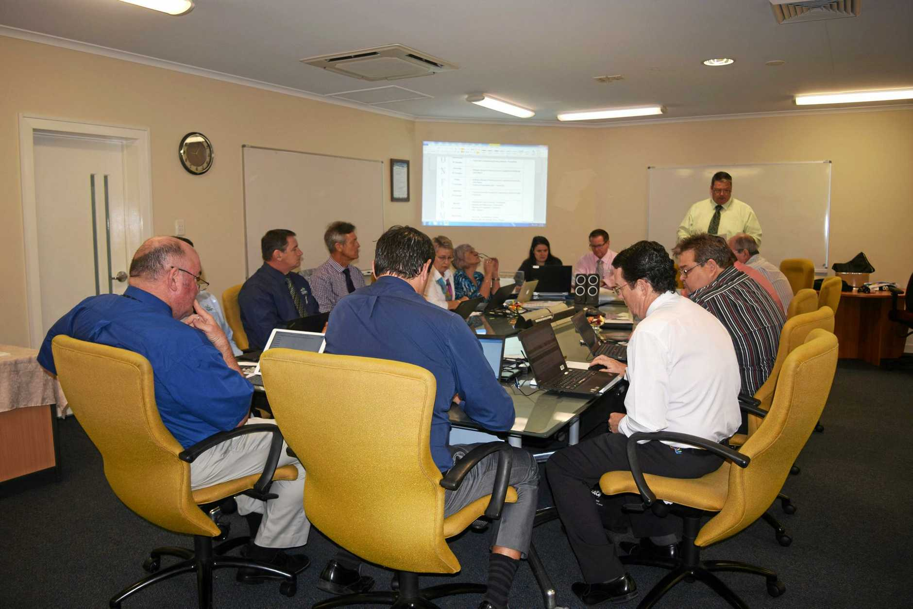 MEETING: Whitsunday Regional Council at a meeting this morning in Proserpine.