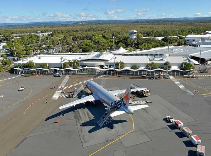 Aerials of the Sunshine Coas Airport.