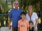 FAMILY FUN: Ron, Rhonda, Kayden and Jordan Wilson at Wooli Solitary Islands Resort, enjoying their last day of holidays.