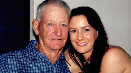 Helen Bender pictured with her late father George.