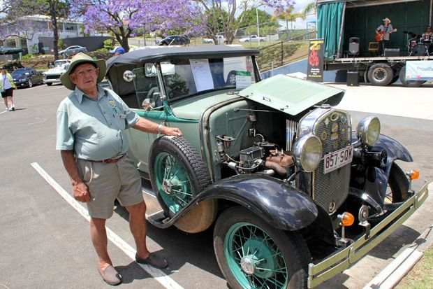 CLASSIC: Ron Southon with his 1930 model A Roadster Ford at last year's car and bike show for the Gold Rush Festival. The festival is on again Saturday.