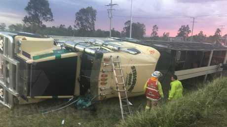 The scene of the crash. Photo 7 News Toowoomba