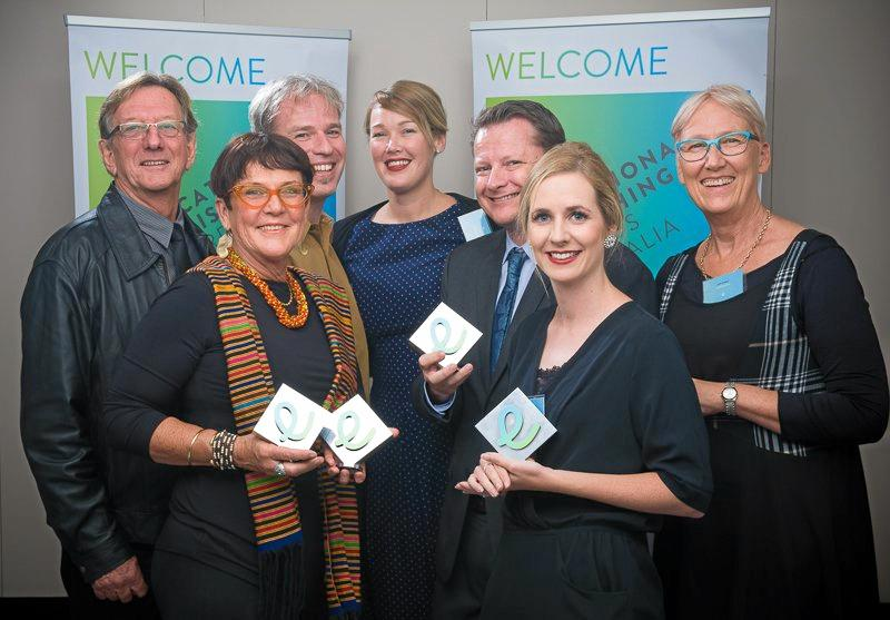 The Firefly Education team with their Educational Publishing Awards Australia trophies.