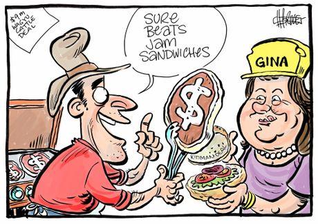 Harry Bruce cartoon wagyu cattle deal