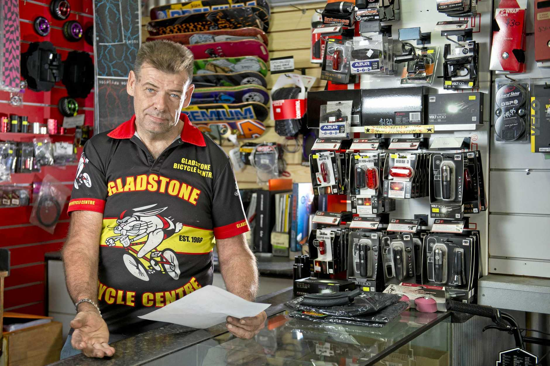 SCAM: David McIntosh from Gladstone Bicycles has received multiple phone calls about dodgy invoices.