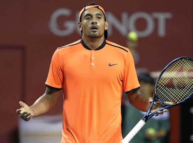 Australia's Nick Kyrgios is under fire for his antics at the Shanghai Masters.