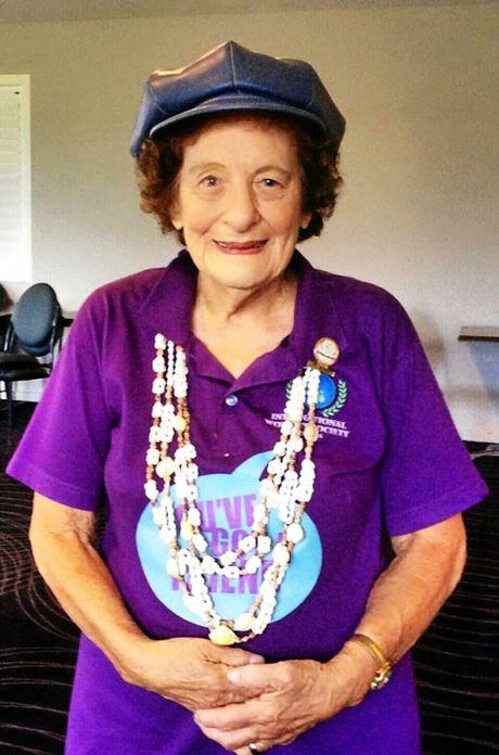 Mavis Scherer, the most senior member at age 92... Member since 1997.