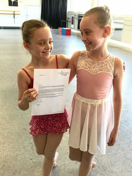 Young Rockhampton dancers Kenzie Andrews and Emily Way both received places in the Australian Ballet School's Interstate/International Training Program (ITP).