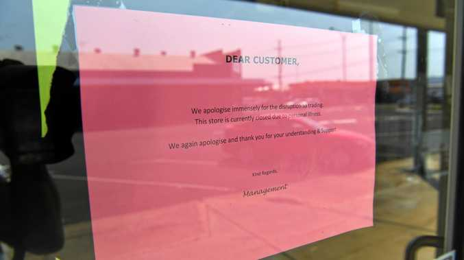 CLOSED: A sign at Metro Tiles in Bundaberg says the business is shut for medical reasons - but ASIC's website says it is in liquidation.