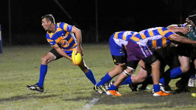 OUCH: The Waves Falcons copped a flogging from the Pythons last week.