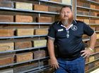 SOLID SAVER: Dave Horrigan has an impressive collection of Ipswich bricks.