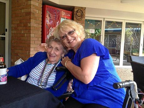 Marie Darragh and her daughter Charli Darragh at St Andrews nursing home in Ballina. Supplied picture.