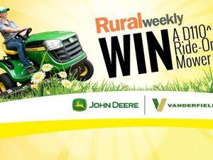 Win a John Deere ride-on mower