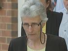 Mother of murdered school teacher speaks outside court.