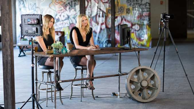 Australia's Next Top Model host Jennifer Hawkins pictured with guest judge Gemma Ward.