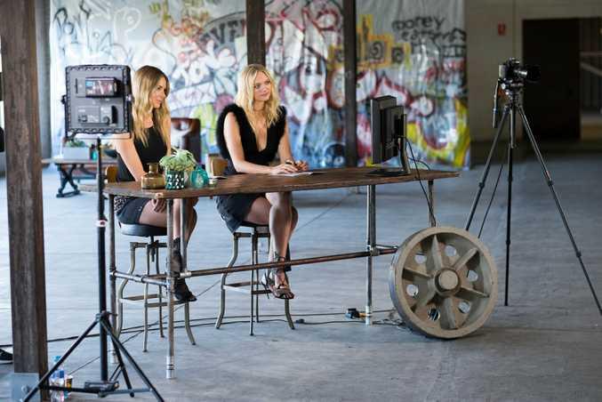 Australia's Next Top Model host Jennifer Hawkins pictured with guest judge Gemma Ward.
