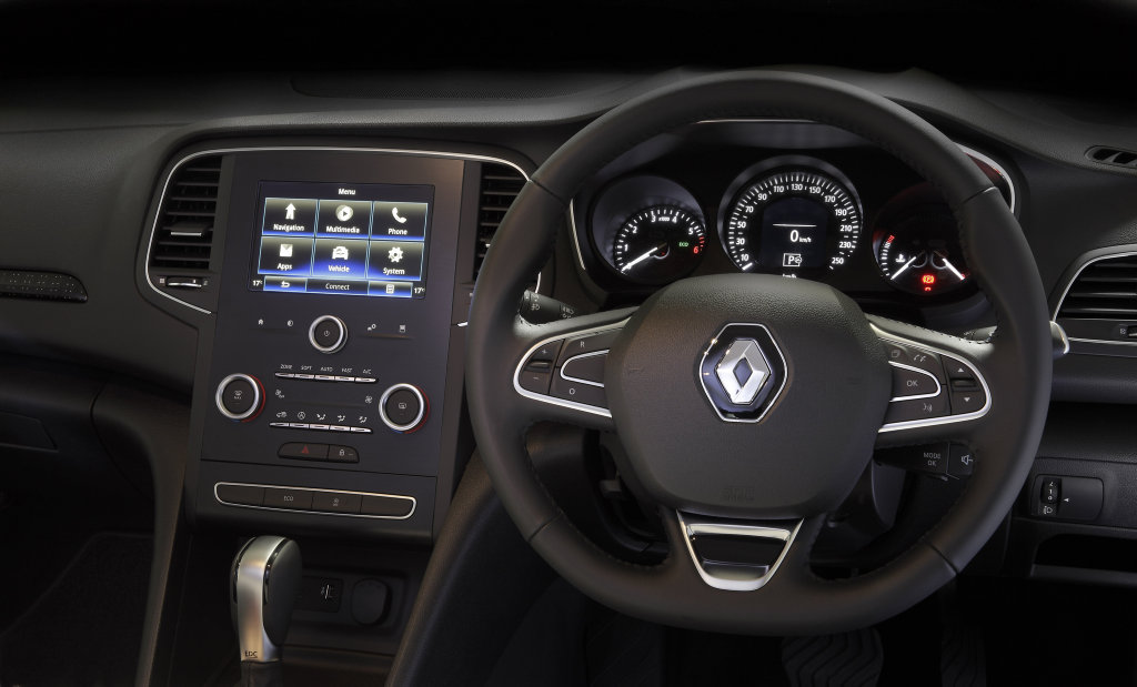 Inside the 2016 Renault Megane Zen.