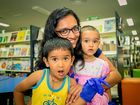 FAMILY FUN: Dipali, Dtirisha and Meir Patel joining in Disability Action Week activities at Isaac Libraries