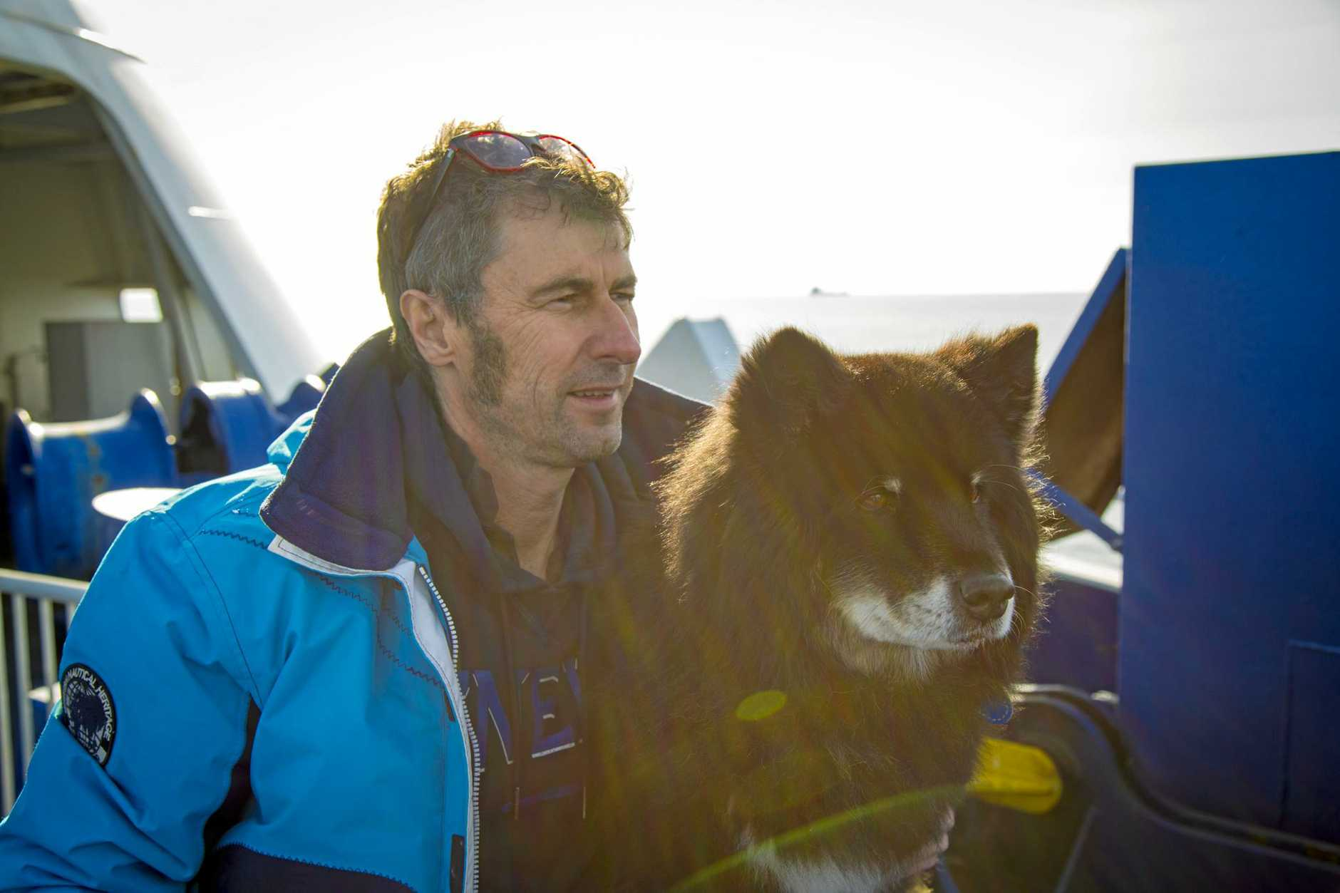 Mark Jeffreys with Osa the Finnish Lapphund.
