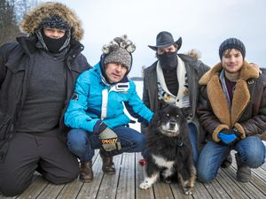 When four men and an amazing dog hit the road