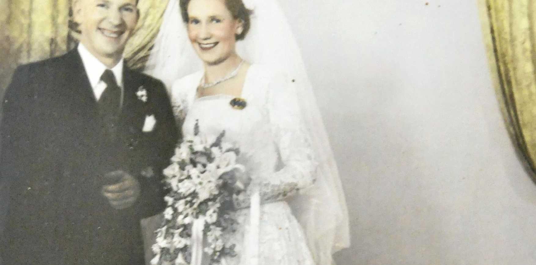 WEDDING BELLS: Bill and Joan Dabinett were married in Toowoomba on October 20, 1956.