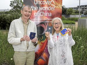 Passports stamped for China trip