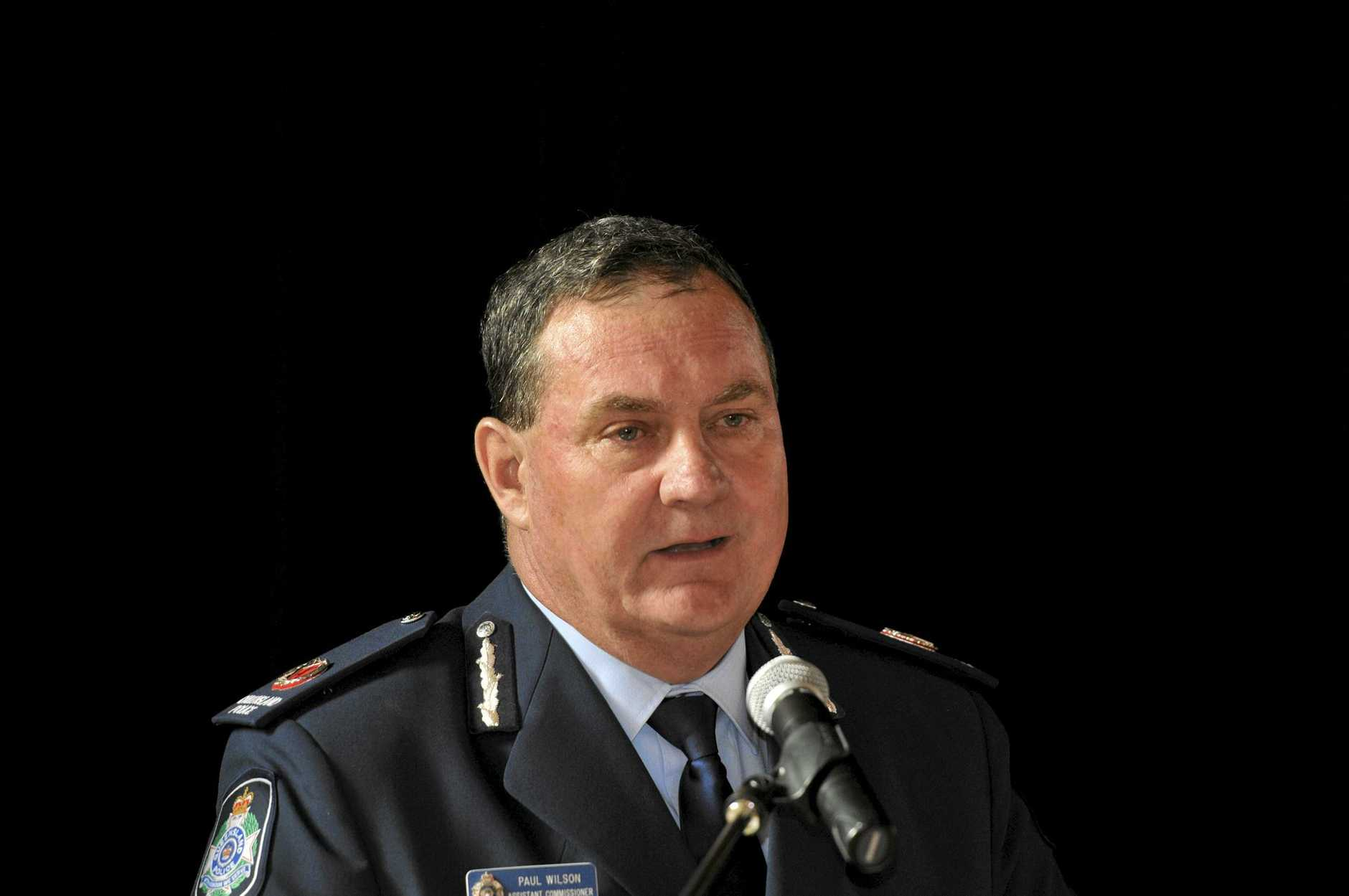 Assistant Commissioner Paul Wilson. National Police and Service Medals. Photo Dave Noonan / The Chronicle