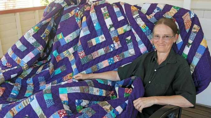 WORK OF ART: Local craftswoman Deirdre Casparian will share her story quilt at this year's Gympie Rotary Quilt & Craft Spectacular.