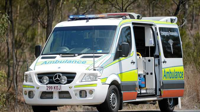 Queensland Ambulance Service on scene of an accident.  Photo Brenda Strong / The Observer