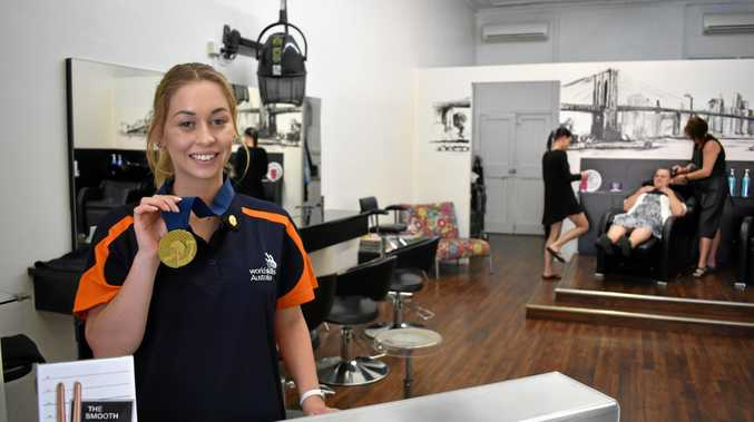 WINNER: Hair at Dalby apprentice Steph Raux has come home with gold after competing at WorldSkills Australia.