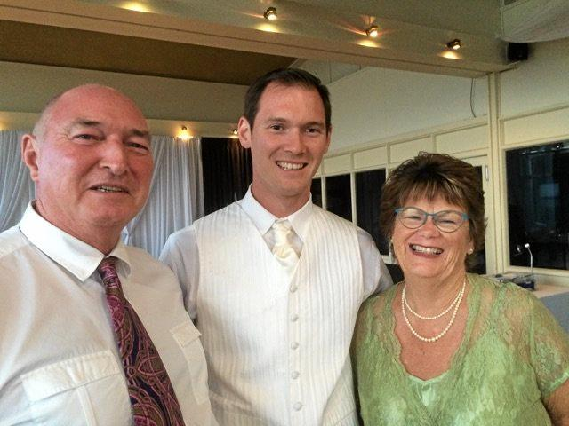 FAMILY: Wendy Smith from Yamba with her husband Peter (far left) and son Graham, who has survived cancer.