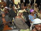 Freed Chibok school girls listen to Nigerian Vice-President Yemi Osinbajo in Abuja, Nigeria, following their release.