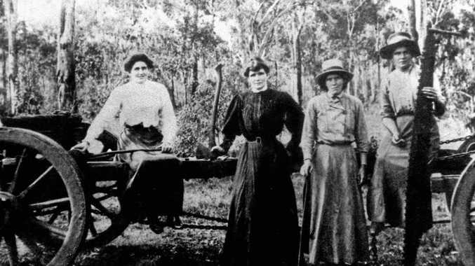 SISTER ACT: Nell, Mary, Kate and Rose Lynch, with the tools of their trade.